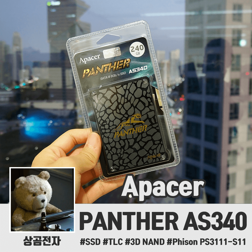 Apacer AS340 SSD 리뷰 (PC & PS4)