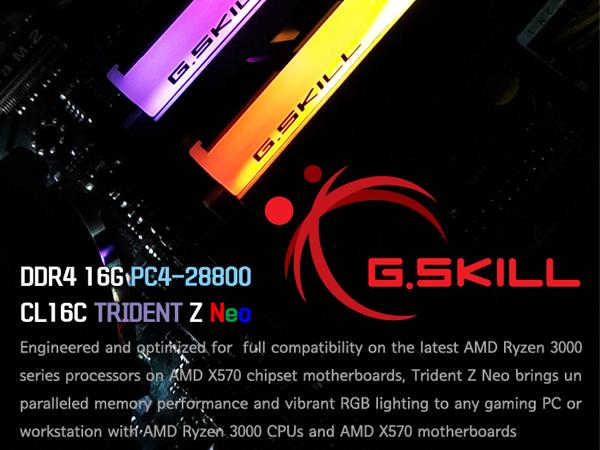 G.SKILL DDR4 16G PC4-28800 CL16 TRIDENT Z NEO C (8Gx2)