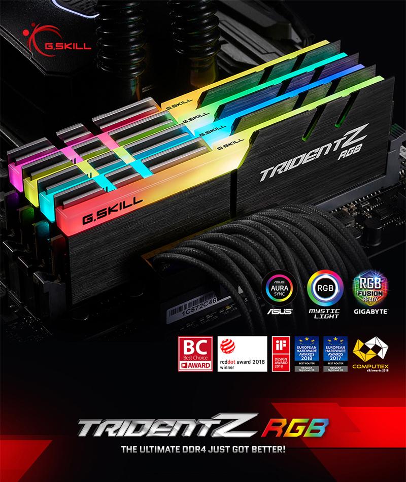 서린씨앤아이, 지스킬 트라이던트 Z RGB 시리즈에 16GB 고용량 모듈 구성의 킷 추가 출시