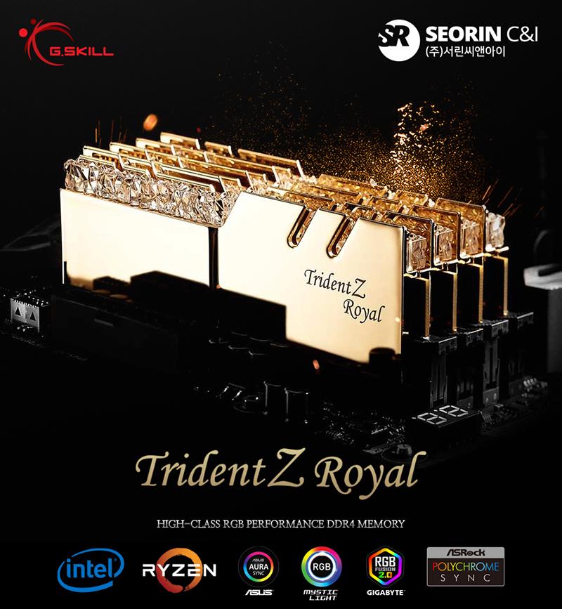 서린씨앤아이, 트라이던트 Z 로얄 RGB 시리즈에 32GB 단일 용량 지원하는 신제품 4종 출시
