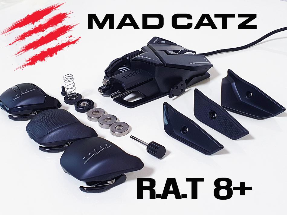 내 손에 맞게 커스터마이징?! MadCatz R.A.T 8 PLUS 매드캣츠 마우스