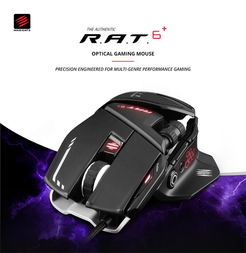 서린씨앤아이, 매드캣츠 게이밍 마우스 차상위 모델, R.A.T 6 플러스 공식 출시