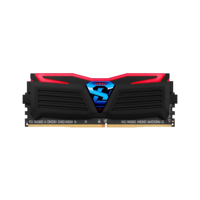 GeIL DDR4 4G PC4-17000 CL15 SUPER LUCE BLACK 레드 (4Gx1)