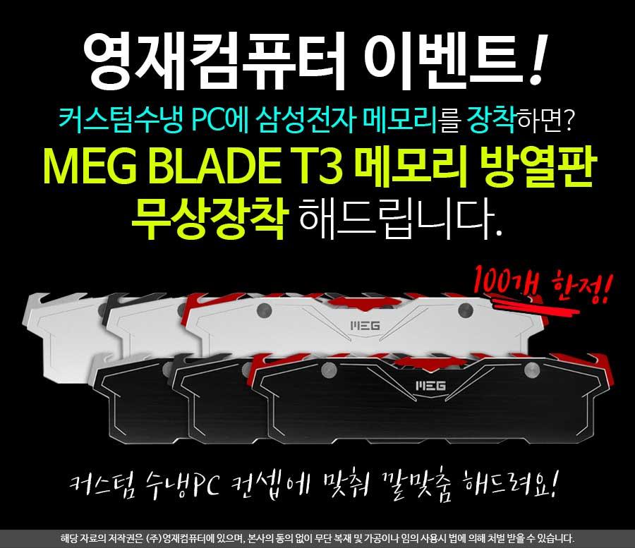 (주)서린씨앤아이 MEG BLADE T3 메모리 방열판 영재컴퓨터와 프로모션 실시