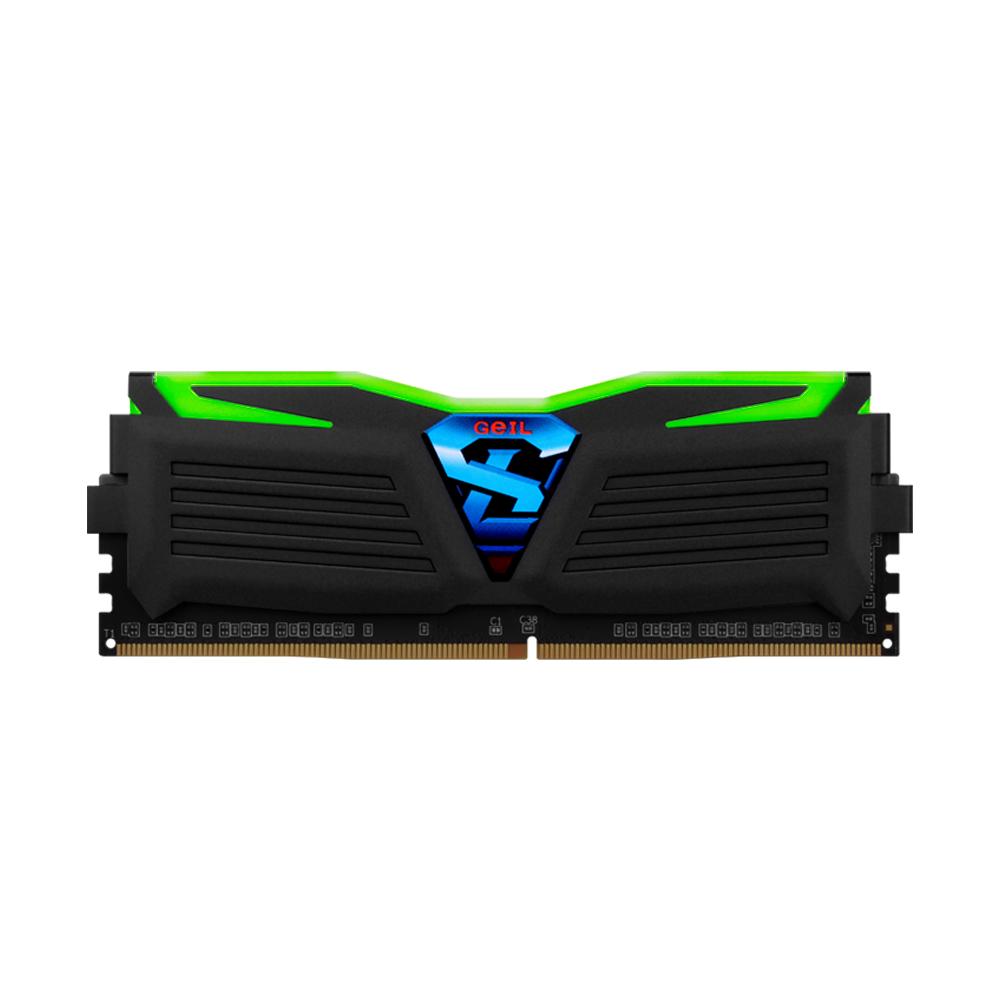 GeIL DDR4 16G PC4-17000 CL15 SUPER LUCE BLACK 그린 (16Gx1)