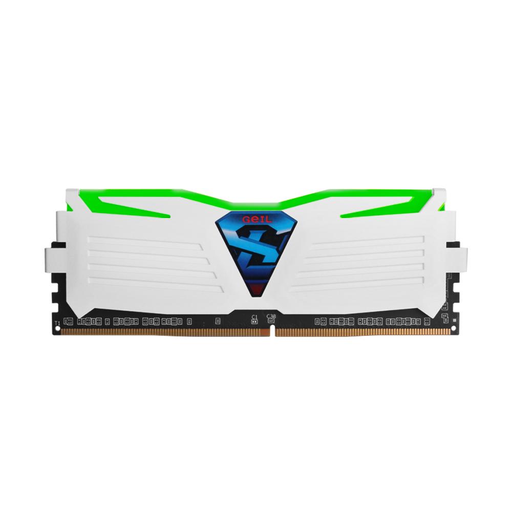 GeIL DDR4 4G PC4-17000 CL15 SUPER LUCE WHITE 그린 (4Gx1)