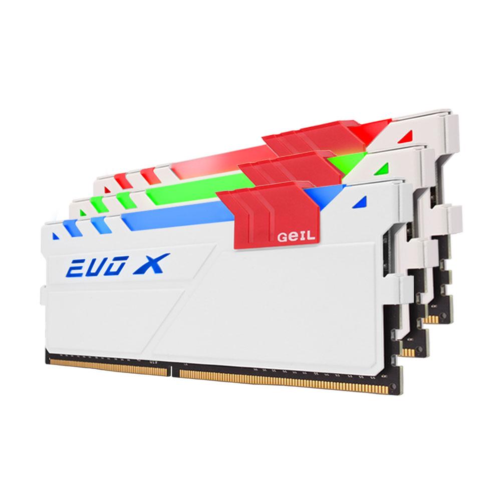 GeIL DDR4 8G PC4-24000 CL15 EVO-X 화이트 RGB (4Gx2)