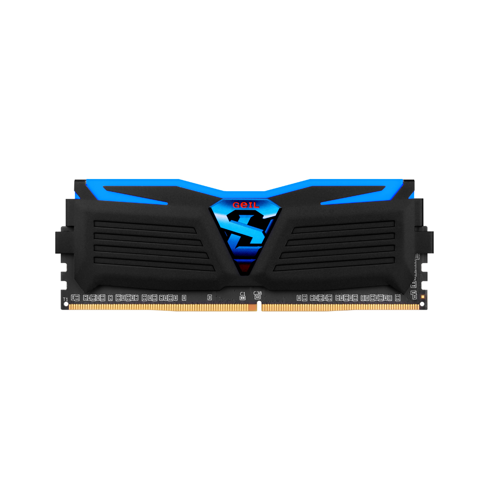 GeIL DDR4 8G PC4-19200 CL17 SUPER LUCE BLACK 블루 (4Gx2)