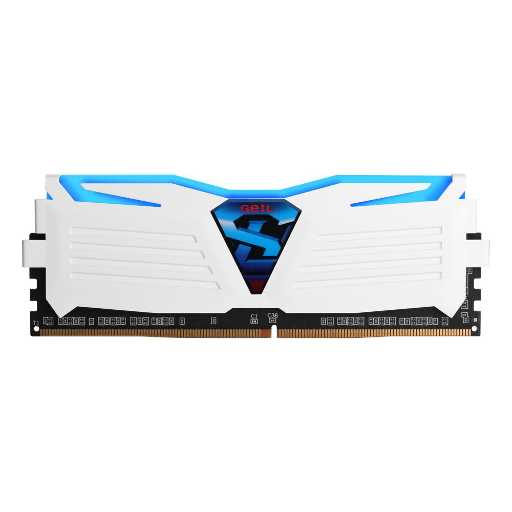 GeIL DDR4 8G PC4-19200 CL17 SUPER LUCE WHITE 블루 (4Gx2)