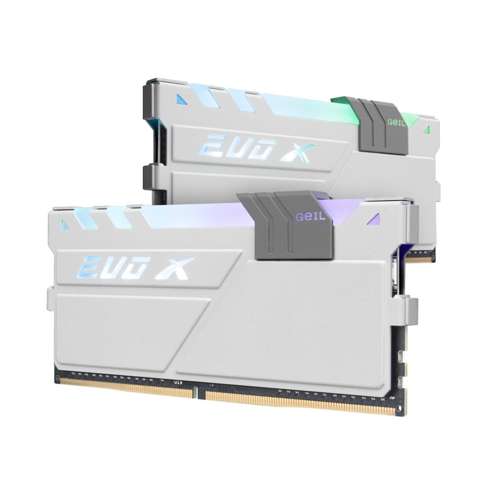 GeIL DDR4 16G PC4-25600 CL16 EVO-X 화이트 GREY RGB (8Gx2)