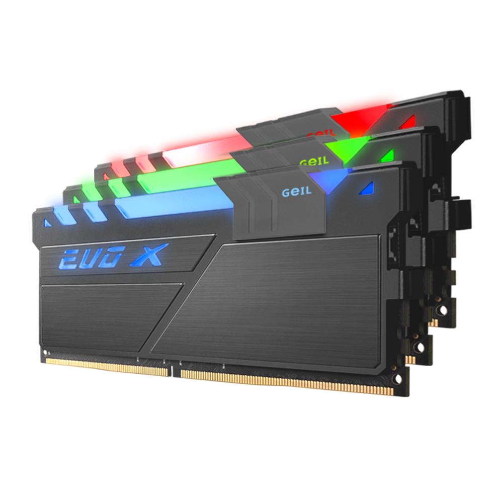 GeIL DDR4 8G PC4-19200 CL17 EVO-X GUNMETAL RYZEN RGB (4Gx2)