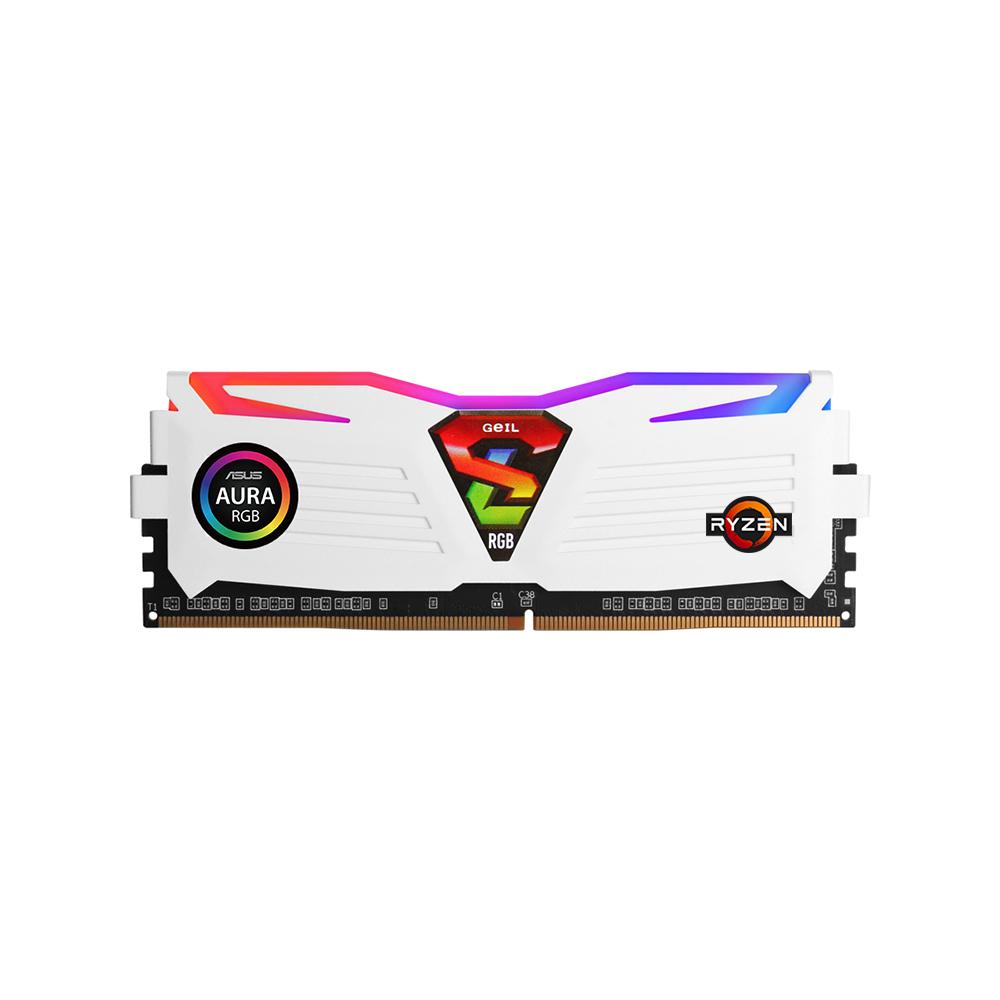 GeIL DDR4 32G PC4-21300 CL19 SUPER LUCE RGB Sync 화이트 AMD Edition (16Gx2)