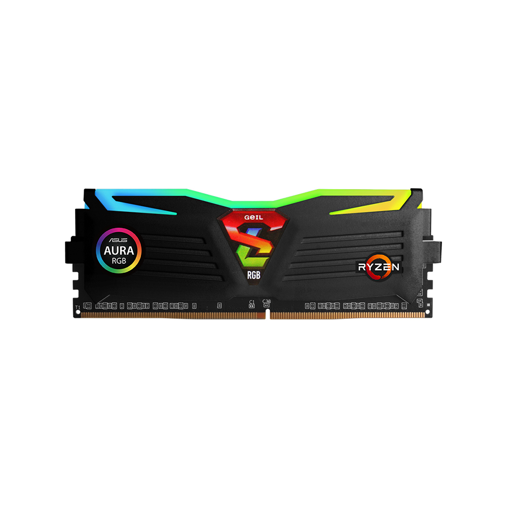 GeIL DDR4 16G PC4-25600 CL16 SUPER LUCE RGB Sync 블랙 AMD Edition (8Gx2)