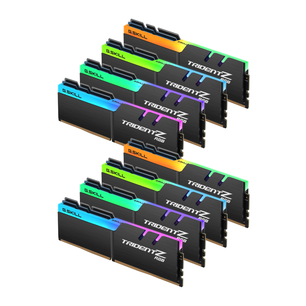 G.SKILL DDR4 64G PC4-19200 CL15 TRIDENT Z RGB (8Gx8)