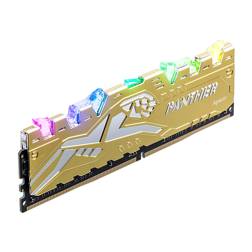 APACER DDR4 16G PC4-25600 CL16 PANTHER RAGE RGB 골드 (8Gx2)