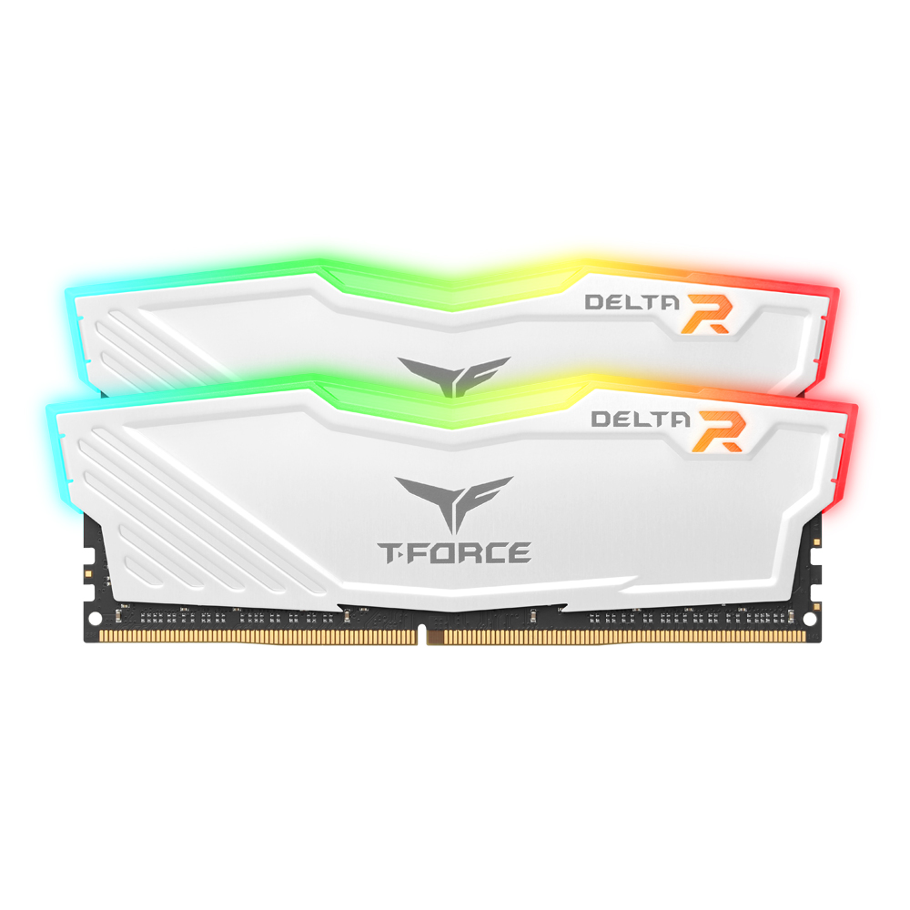 TeamGroup T-Force DDR4 32G PC4-25600 CL16 Delta RGB 화이트 (16G…