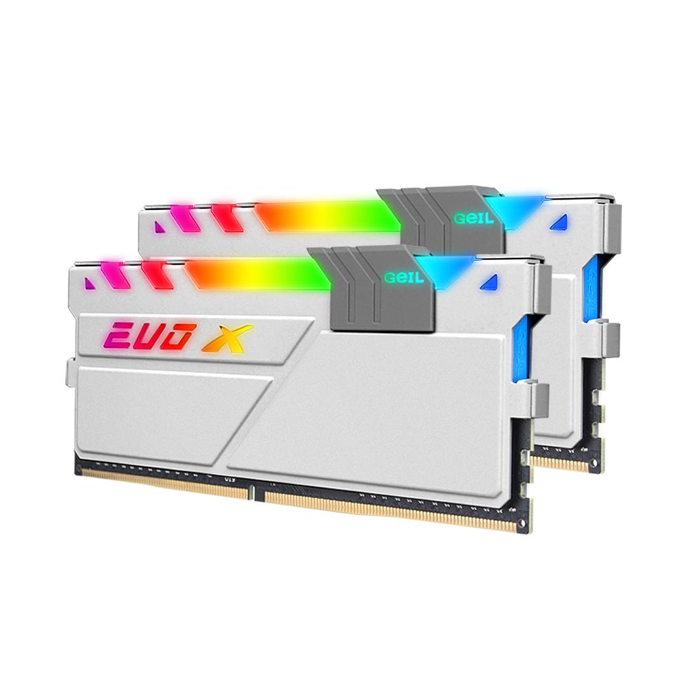 GeIL DDR4 16G PC4-28800 CL18 EVO-X II AMD White RGB (8Gx2)