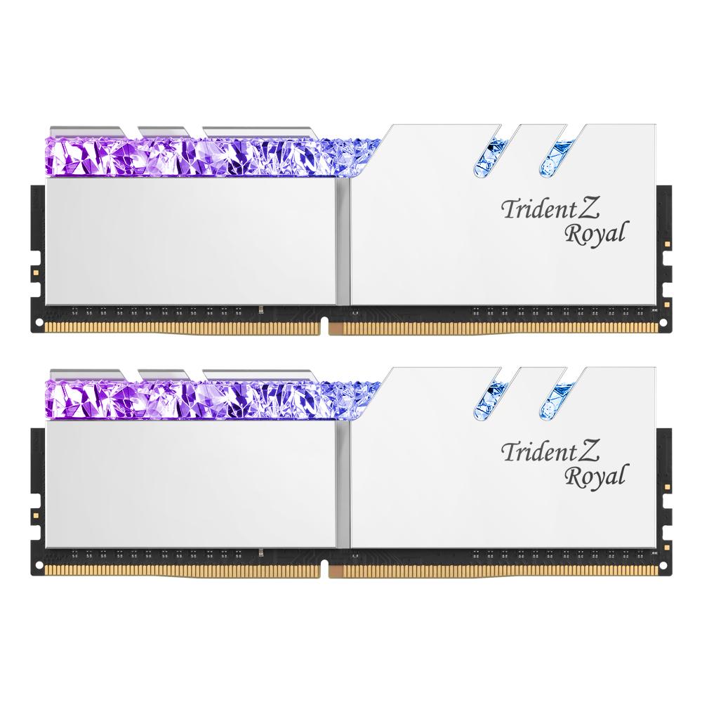 G.SKILL DDR4 64G PC4-25600 CL16 TRIDENT Z ROYAL 실버 (32Gx2)