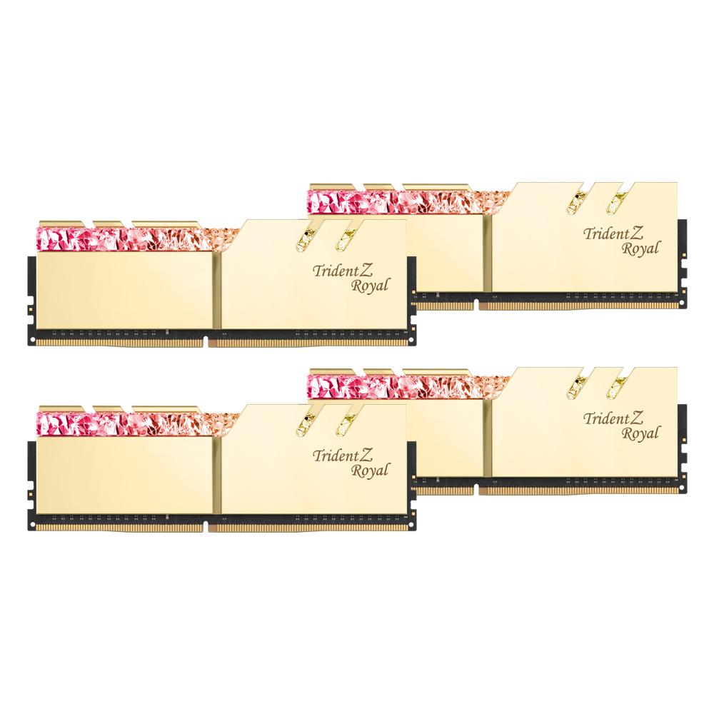 G.SKILL DDR4 128G PC4-25600 CL16 TRIDENT Z ROYAL 골드 (32Gx4)