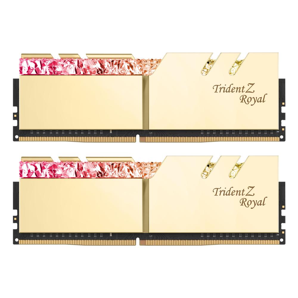 G.SKILL DDR4 64G PC4-25600 CL16 TRIDENT Z ROYAL 골드 (32Gx2)