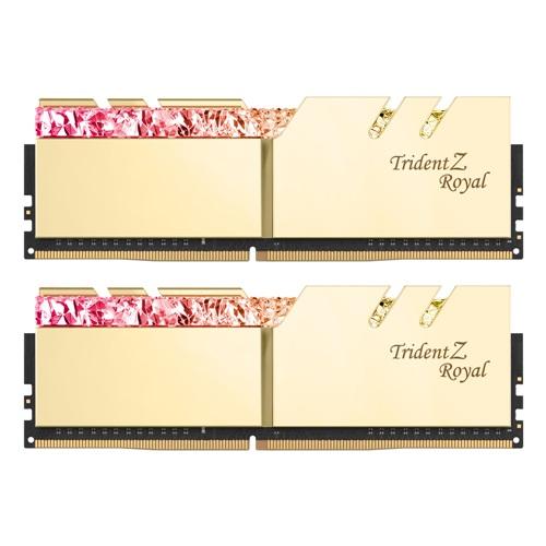 G.SKILL DDR4 64G PC4-28800 CL18 TRIDENT Z ROYAL 골드 (32Gx2)