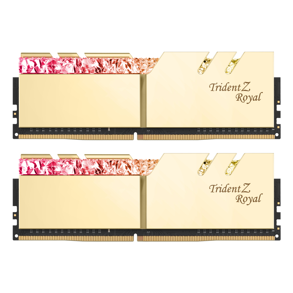 G.SKILL DDR4-4800 CL18 TRIDENT Z ROYAL 골드 패키지 (16GB(8Gx2))