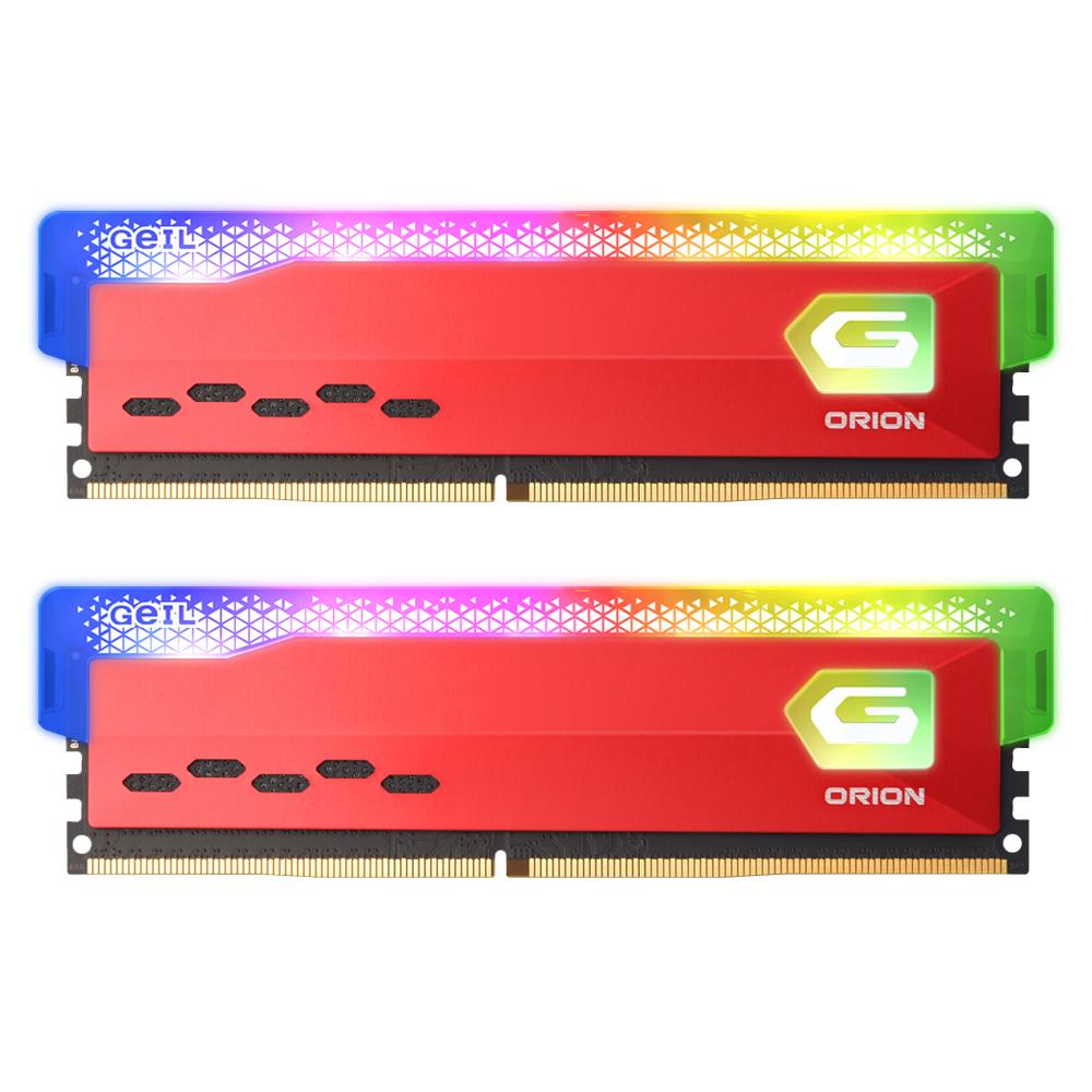 GeIL DDR4-3200 CL16 ORION RGB Red 16GB(8Gx2)
