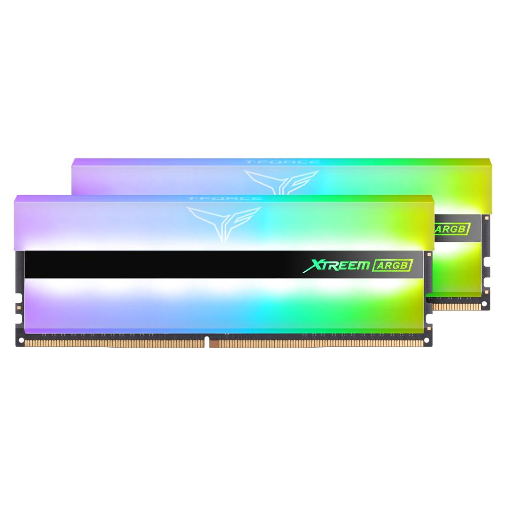TeamGroup T-Force DDR4-3200 CL14 XTREEM ARGB WHITE 16GB(8Gx2…